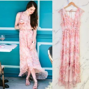 {Anthro} HD in Paris | Sidra Floral Chiffon Dress